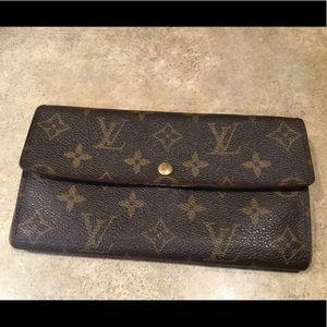 Louis Vuitton Monogram Sarah Long Flap Wallet